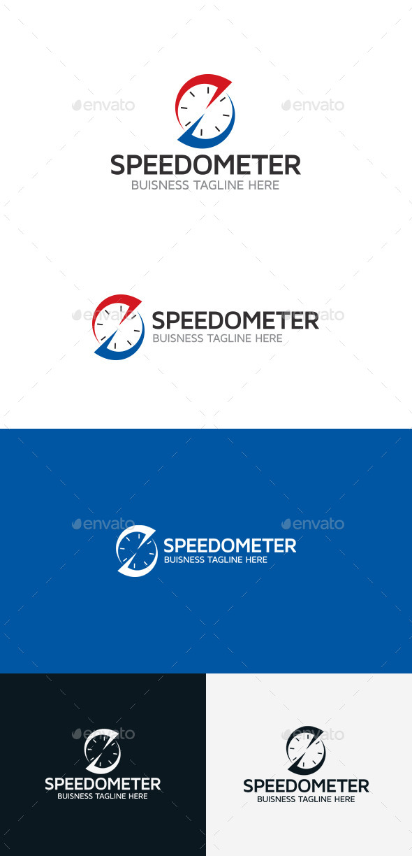 GraphicRiver Speedometer Logo 9368381