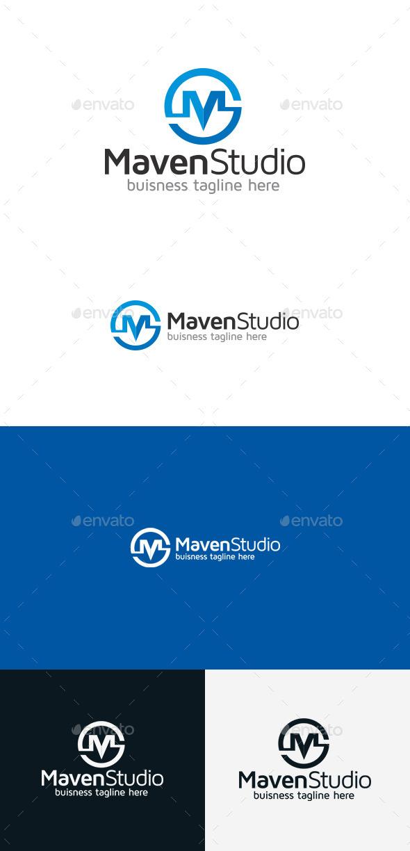 GraphicRiver Maven Studio M Letter Logo 9368479