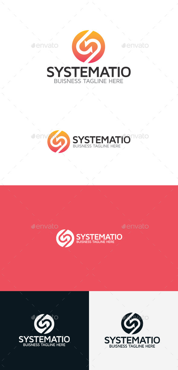 GraphicRiver System S Letter Logo 9368561