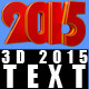 3D 2015 Text - GraphicRiver Item for Sale