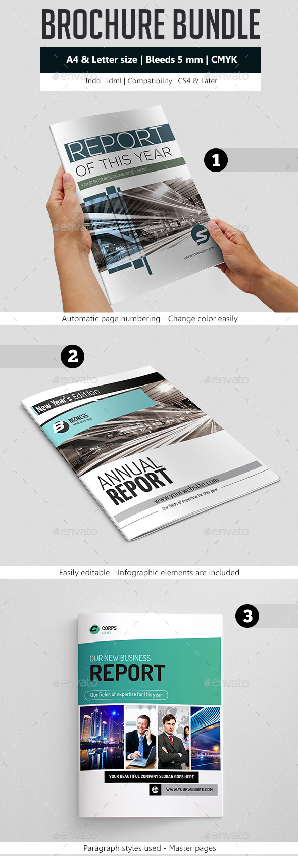GraphicRiver Business Brochure Template Bundle 9368820