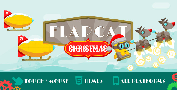 CodeCanyon Game FlapCat Christmas 9369096
