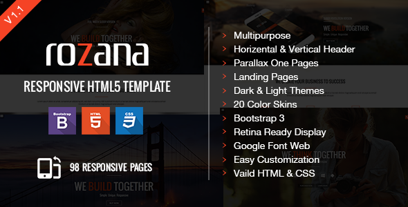 ThemeForest Rozana Responsive Multipurpose & One Page Parallax 9082584