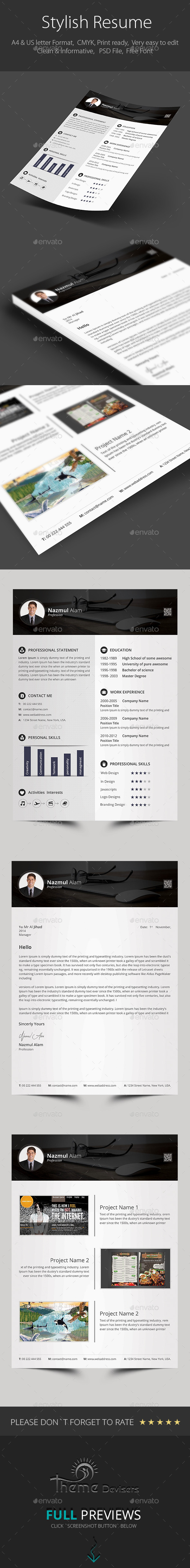 GraphicRiver Stylish Resume 9369256