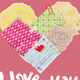 Scrapbooking Heart is made of Vintage Old Paper - GraphicRiver Item for Sale