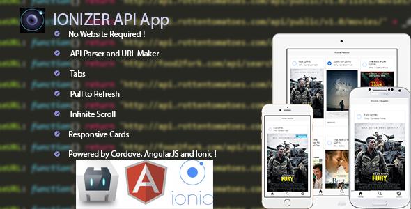 CodeCanyon Ionizer API App 9264510