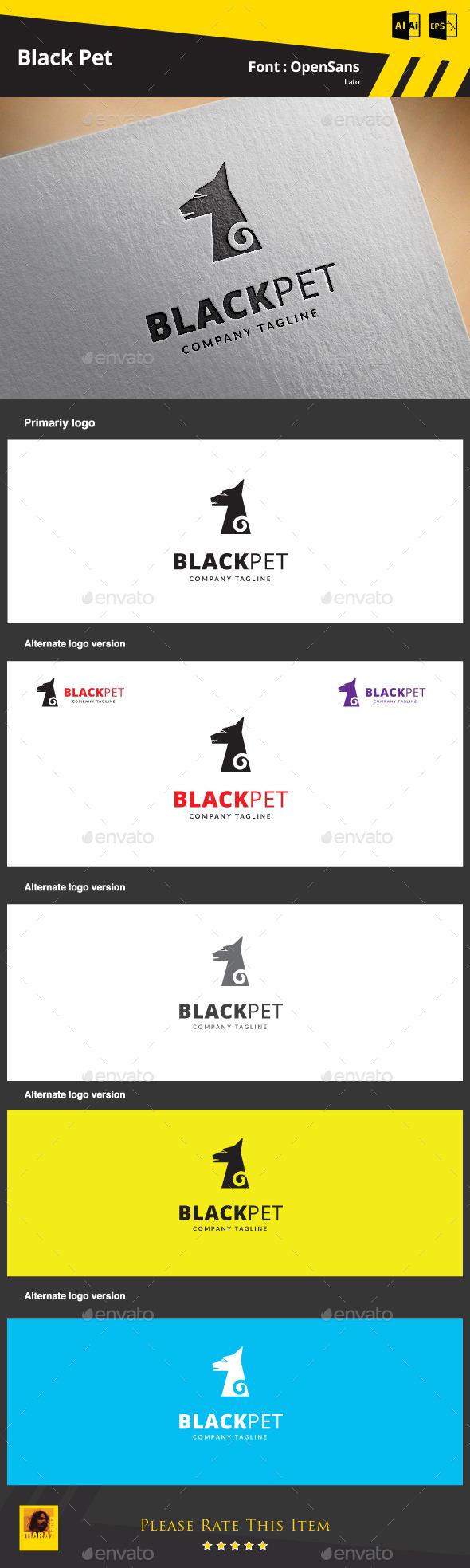 Black Pet Logo Template