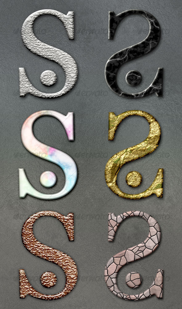 Graphic River Stone Styles 3 Add-ons -  Photoshop  Styles  Text Effects 31907