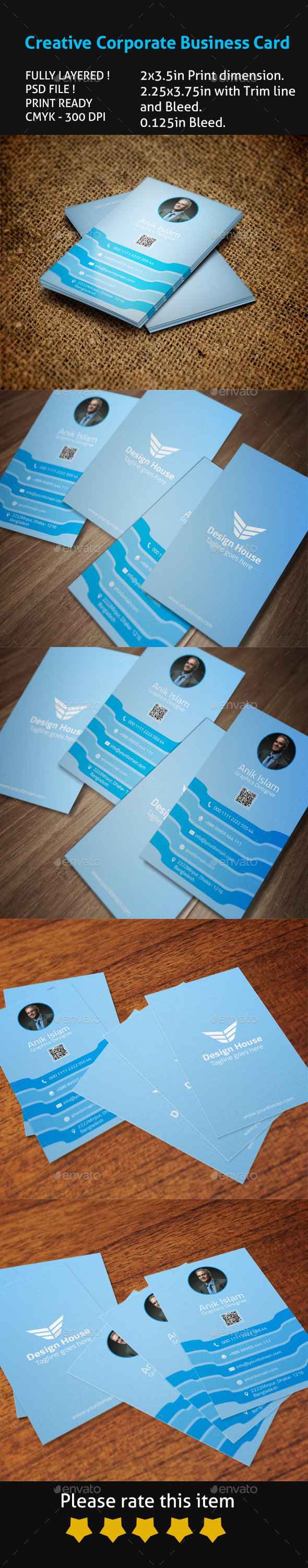 GraphicRiver Creative Corporate Business Card 9369816
