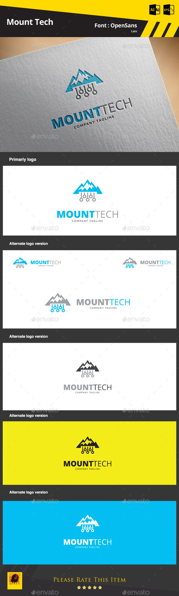 GraphicRiver Mount Tech Logo Template 9369844