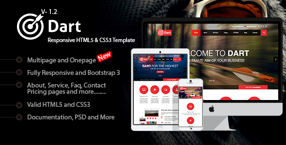 Dart - Responsive HTML5 Business Template - Business Corporate