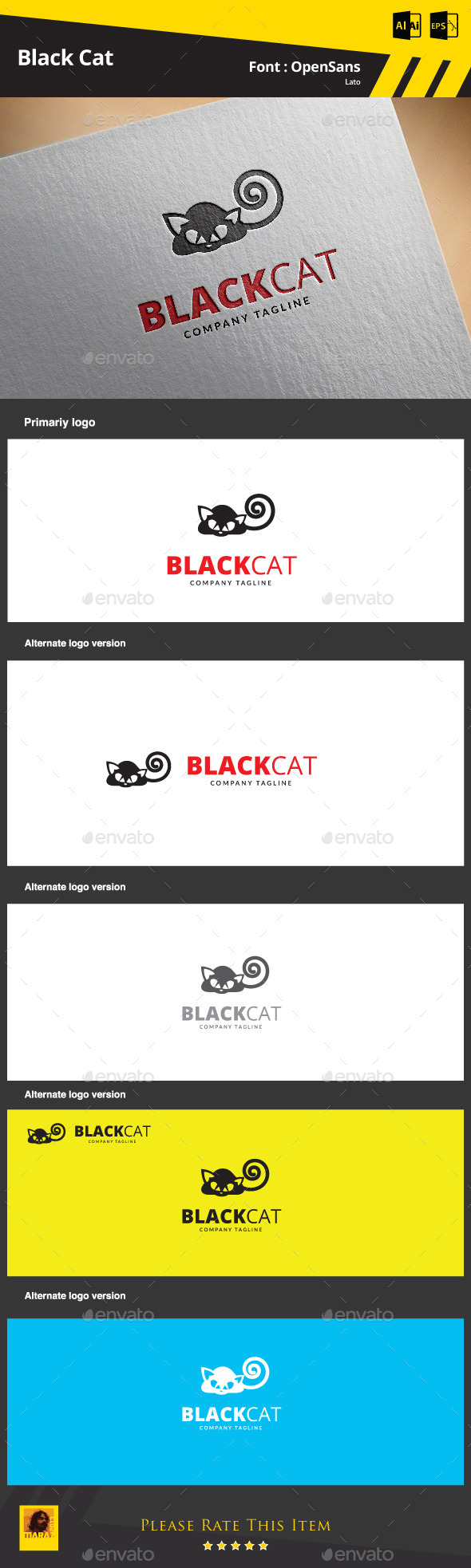 GraphicRiver Black Cat 9369935
