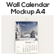 Wall Calendar Mockups For A4 - GraphicRiver Item for Sale