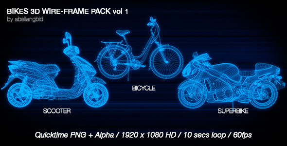 Bikes 3D Wire Frame Pack Vol 1