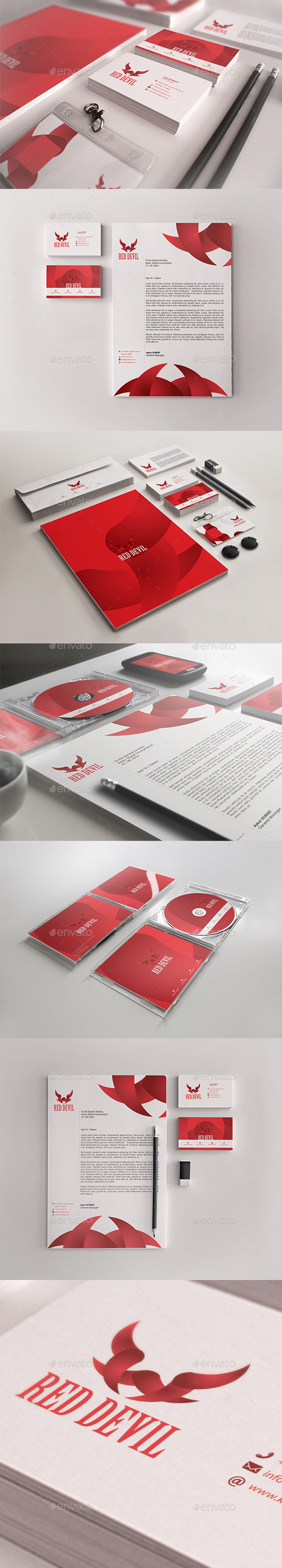 GraphicRiver Red Devil Corporate Identity Package 9370596