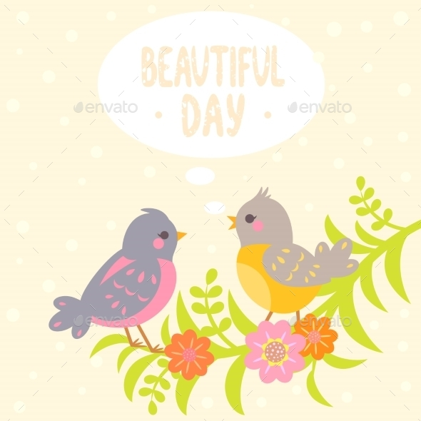 GraphicRiver Birds Flat 9370762