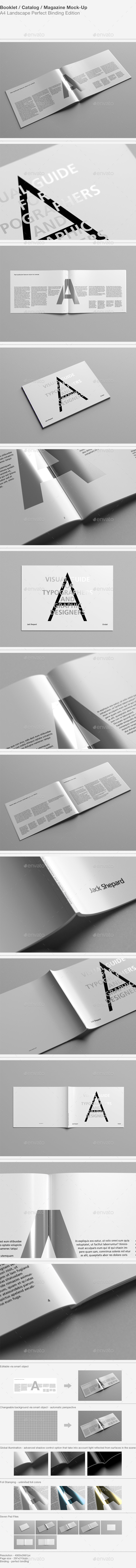 GraphicRiver Booklet Catalog Magazine Mock-Up 9370808