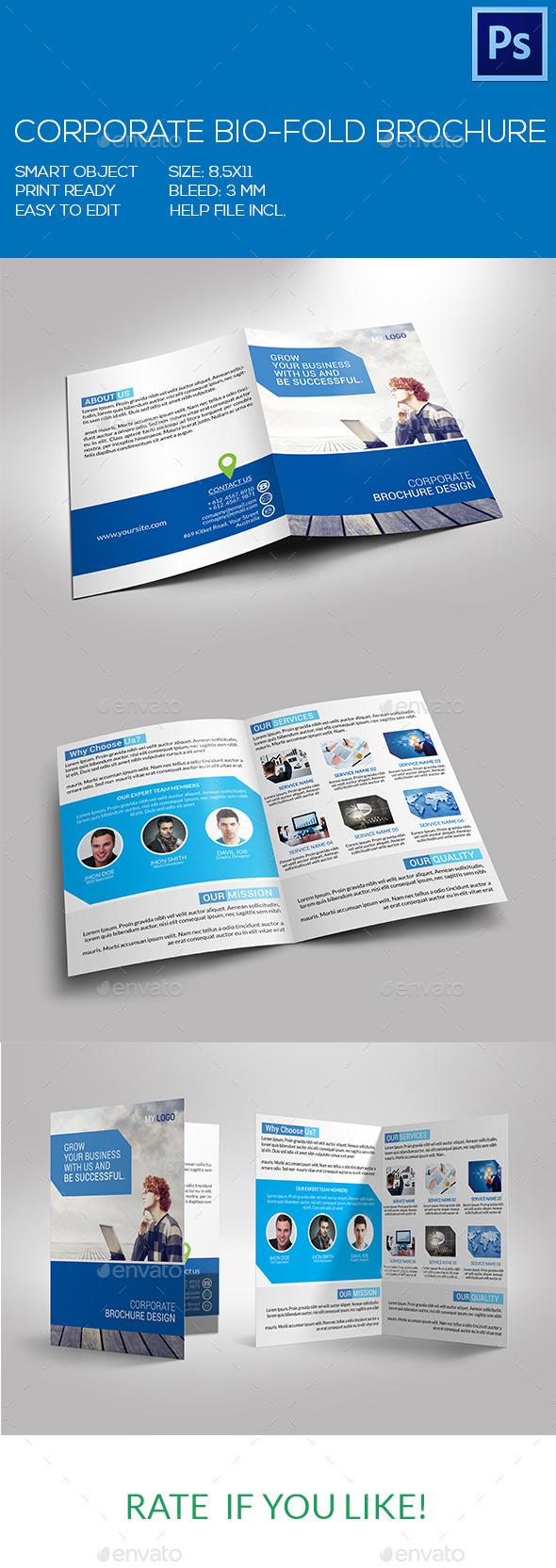 GraphicRiver Corporate Bio-Fold Brochure 9370824