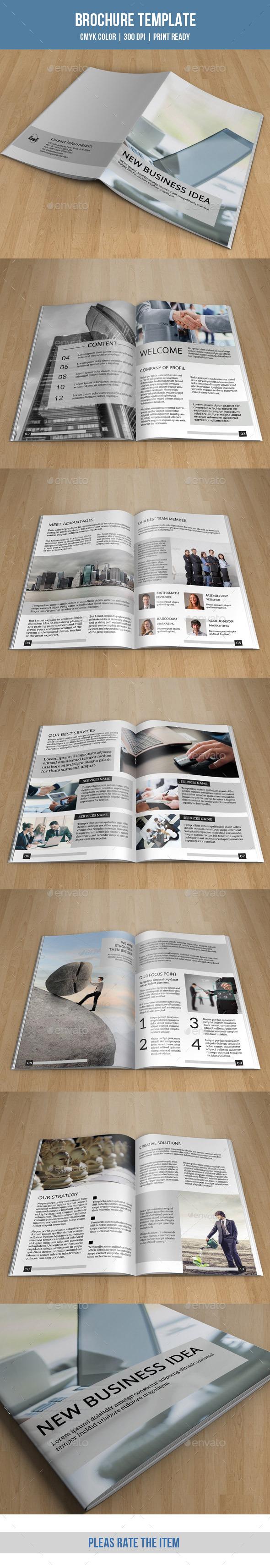 GraphicRiver Minimal Bifold Brochure-V153 9371335