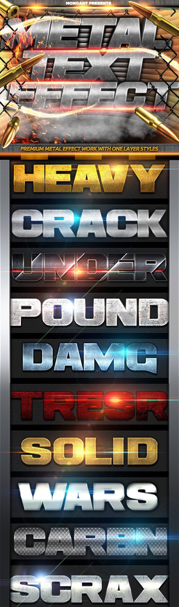 GraphicRiver Metal Text Effect 9371444
