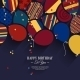 Vector Colorful Birthday Card with Paper Balloons  - GraphicRiver Item for Sale