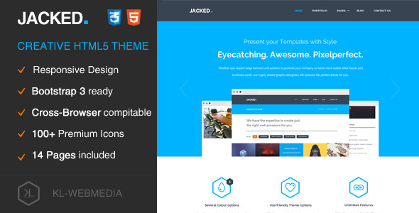ThemeForest Jacked Creative HTML5 Theme 9312299