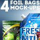 4 Foil Bag Mock-ups - GraphicRiver Item for Sale