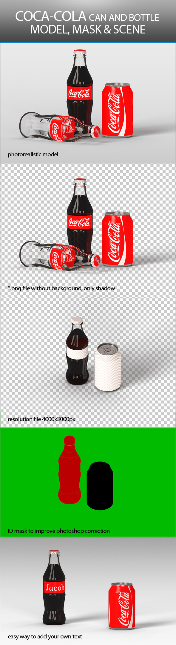 3DOcean Coca Cola Can and Bottle 9372490