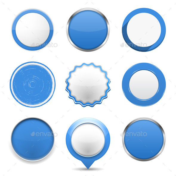 GraphicRiver Blue Round Buttons 9372473