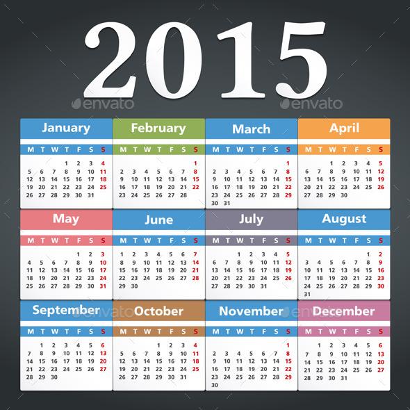 GraphicRiver 2015 Calendar 9372494