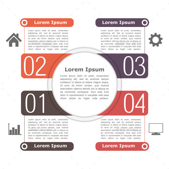 GraphicRiver Circle Infographics Template 9372506