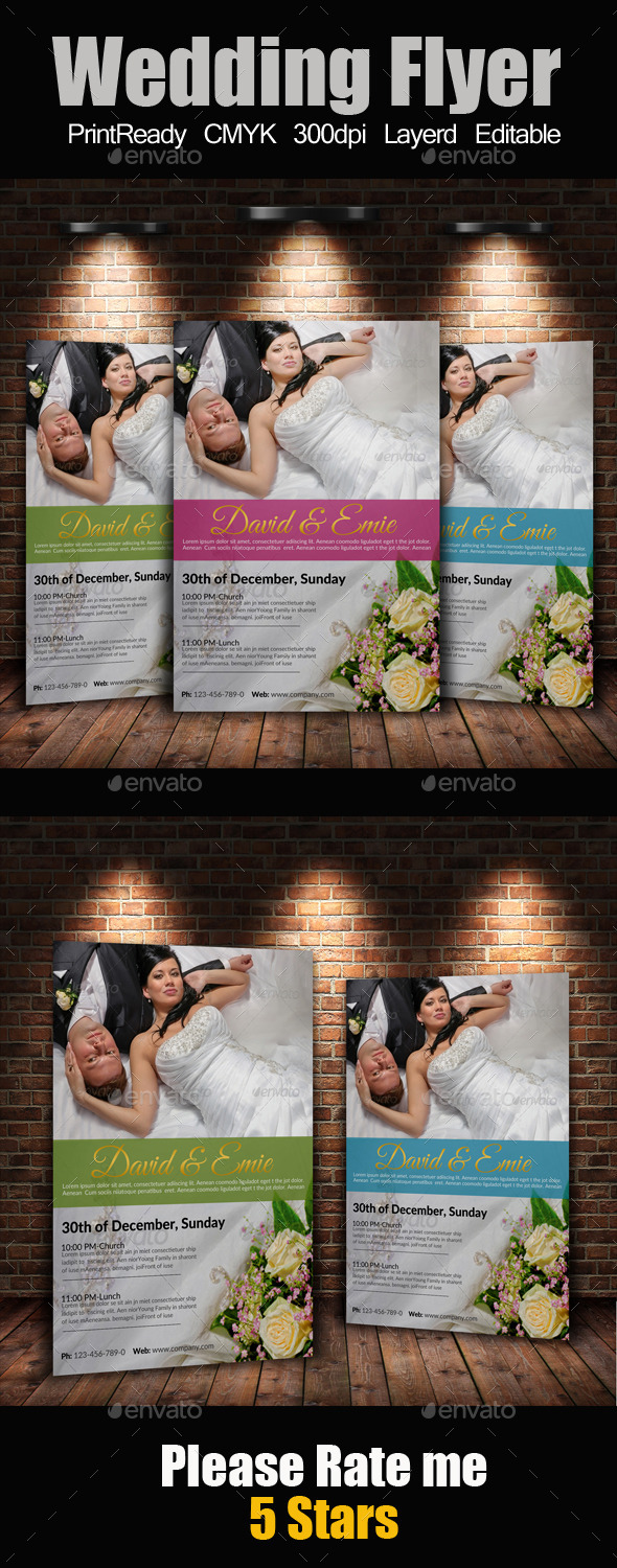 GraphicRiver A4 Wedding Flyer 9372585