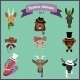 Fashion Hipster Animals Set  - GraphicRiver Item for Sale
