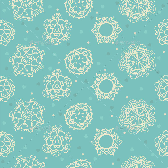 GraphicRiver Floral Ornamental Seamless Pattern 9372650