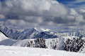 Winter snowy mountains in clouds - PhotoDune Item for Sale