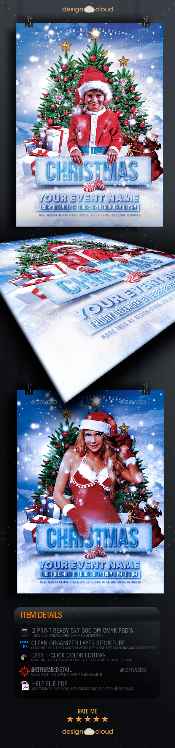 GraphicRiver Christmas Party and Event Flyer Template 9373085