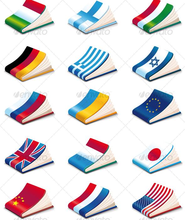 Language Icons - Web Elements