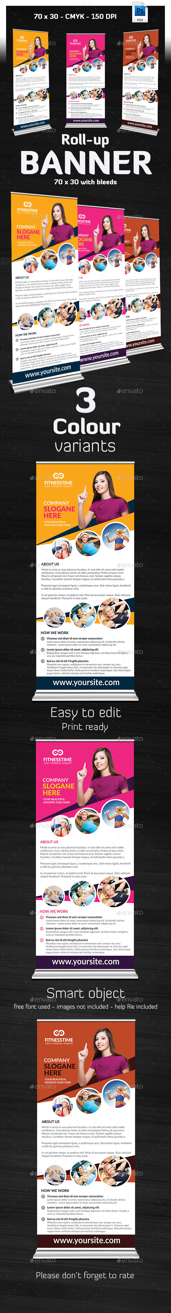 GraphicRiver Ivato Multipurpose Roll Up Banner 9373504