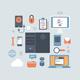 Server Computing Hosting Modern Flat Style Equipment - GraphicRiver Item for Sale