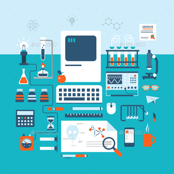 GraphicRiver Science Technology Research Laboratory Workspace 9373531