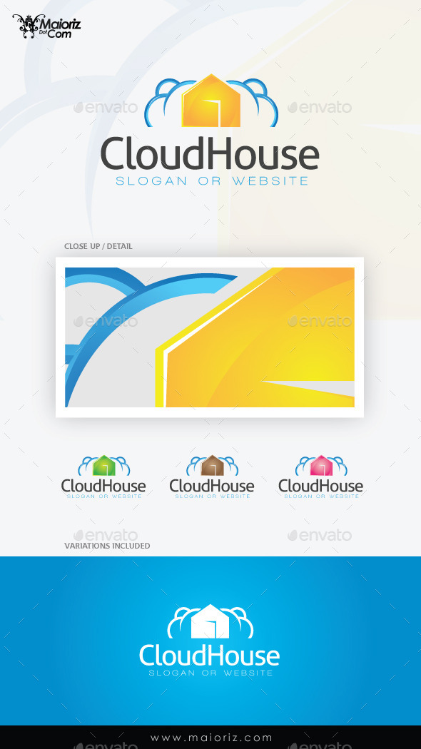 GraphicRiver Cloud House Logo Template 9373640