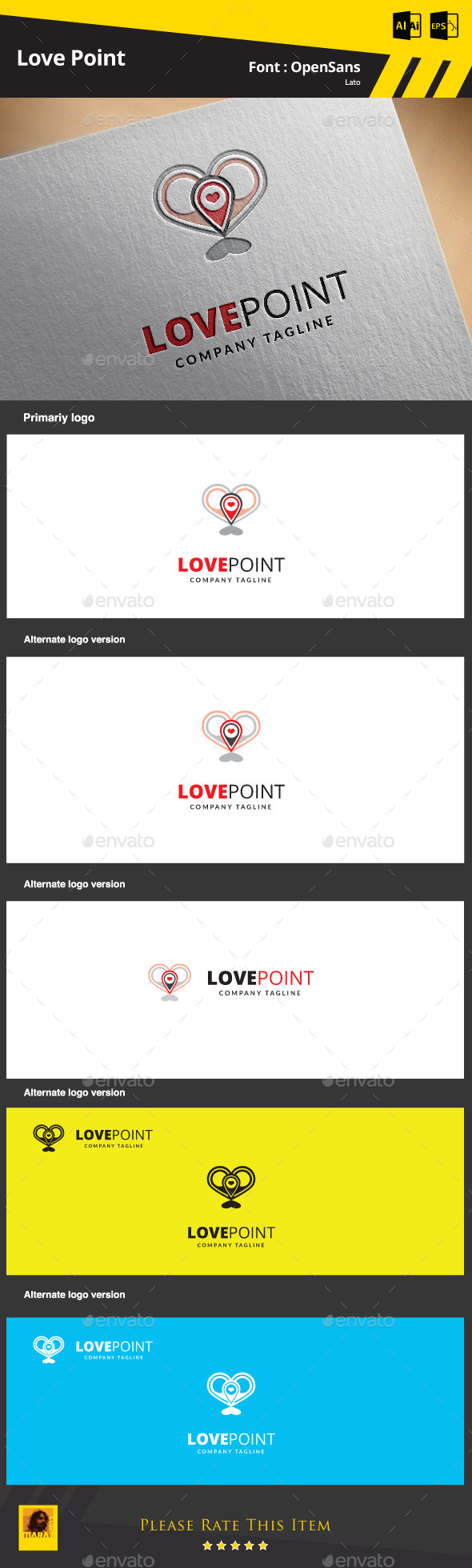 GraphicRiver Love point Logo Template 9374516