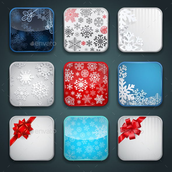 GraphicRiver Backgrounds for Christmas Apps Icons 9374574