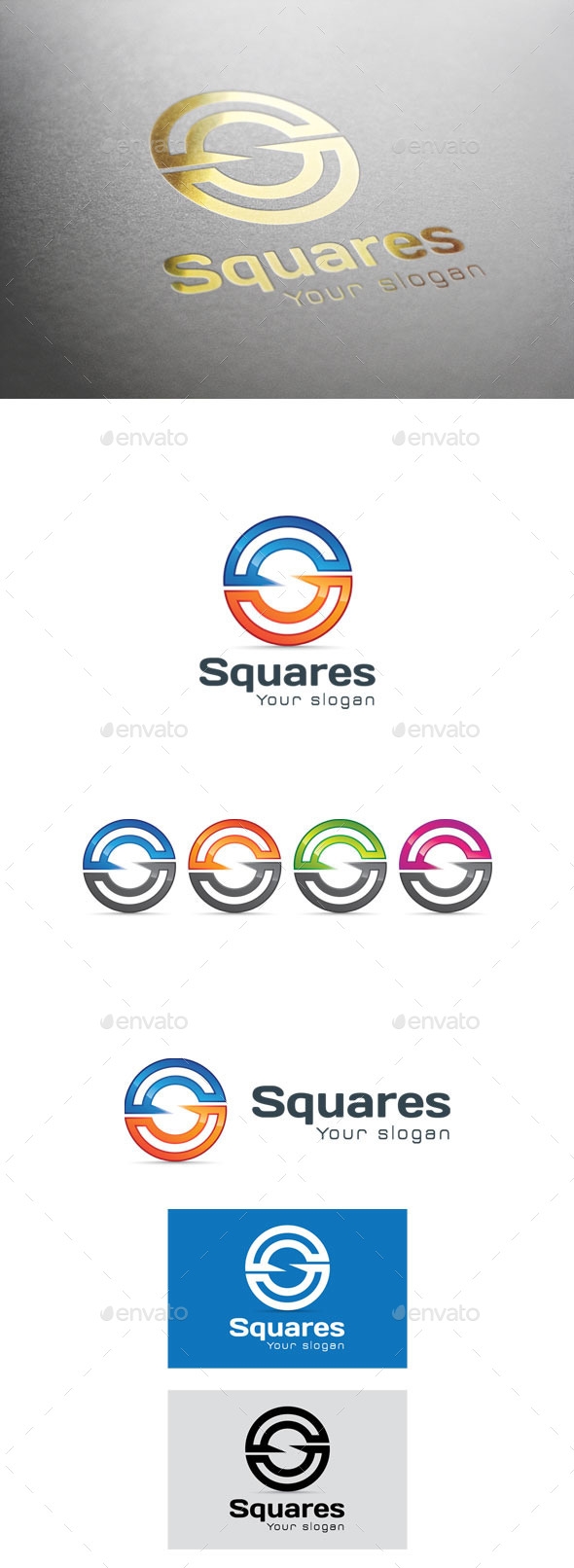 GraphicRiver Squares Letter S Logo 9374631