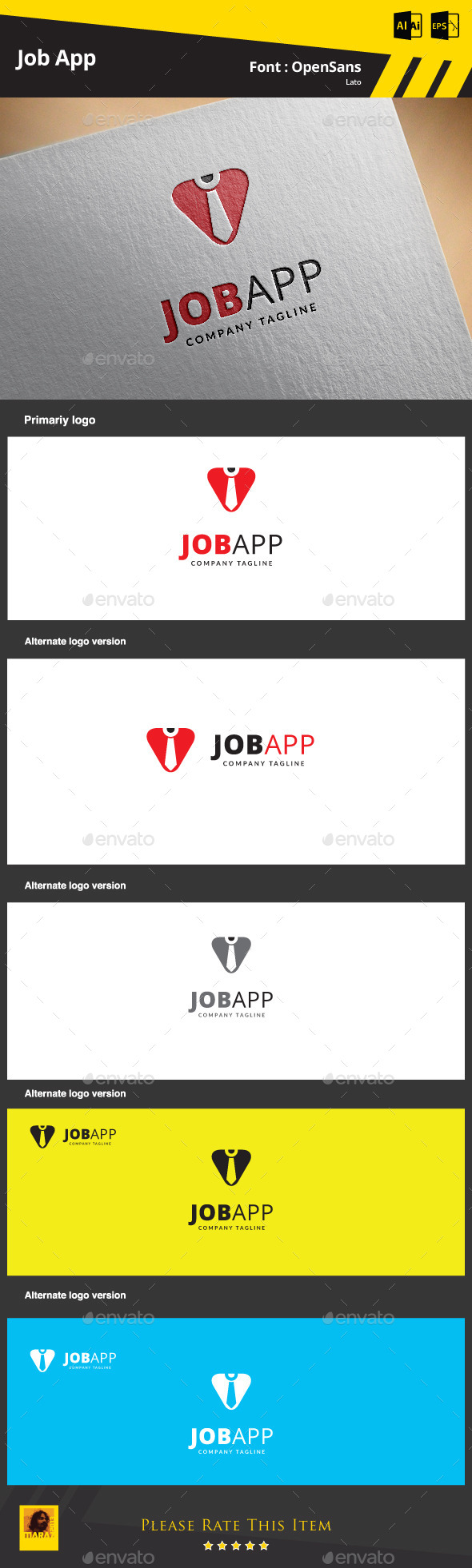 GraphicRiver Job App Logo Template 9374648
