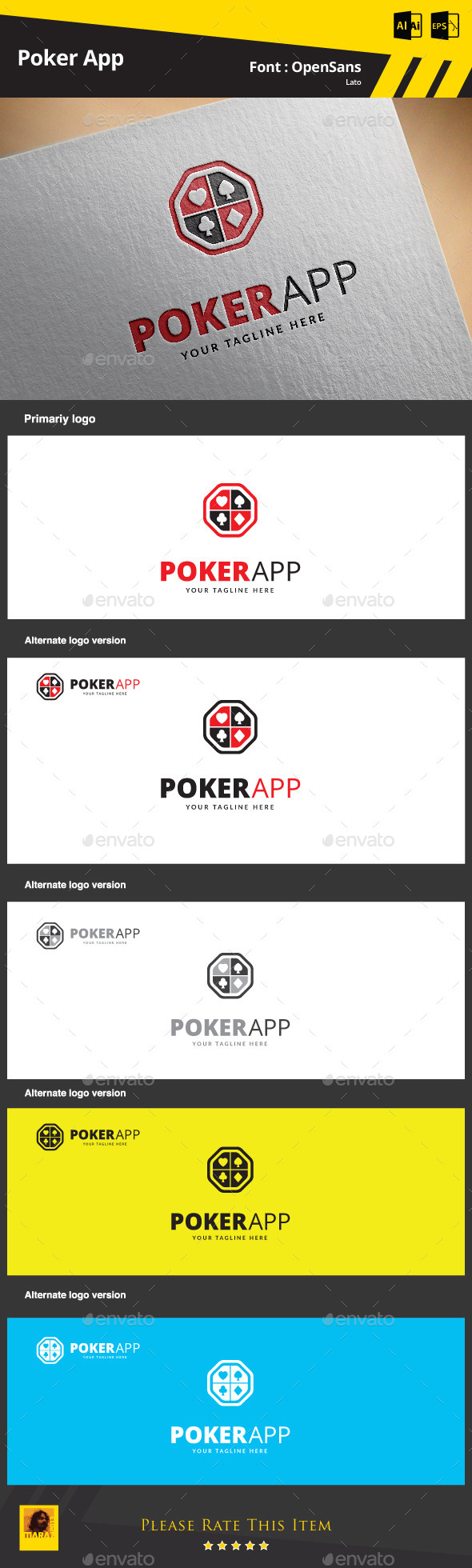 GraphicRiver Poker App Logo Template 9374759