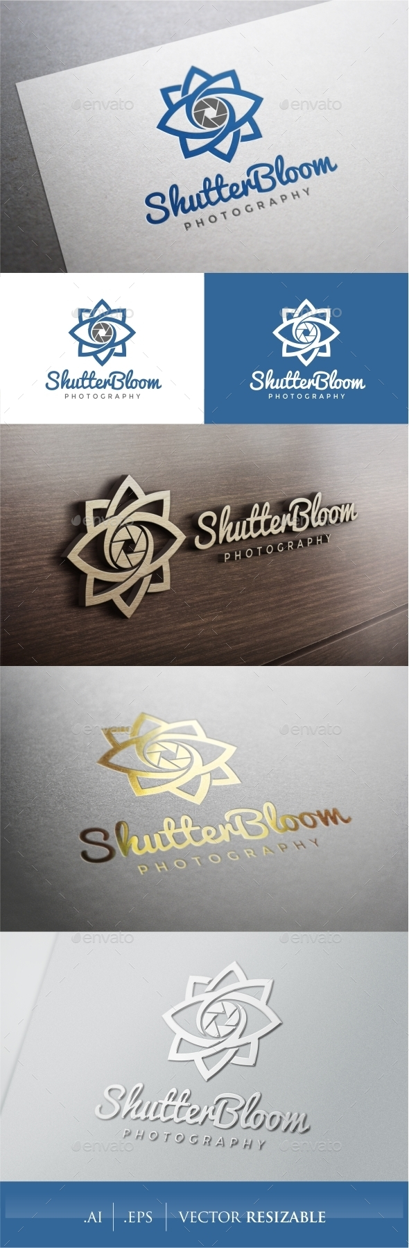 GraphicRiver Shutter Bloom Photography Logo 9374830