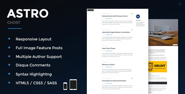 Astro - Responsive Ghost Theme - Ghost Themes Blogging