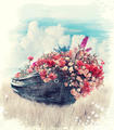 Old Boat With Flowers - PhotoDune Item for Sale