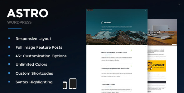 Astro - Responsive WordPress Blog Theme - Personal Blog / Magazine
